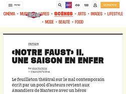«Notre Faust»II, unesaison en enfer