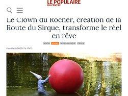 Le Clown du Rocher,  transforme le réel en rêve