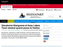 Dieudonné Niangouna et Sony Labou Tansi aboient quand passe le théâtre