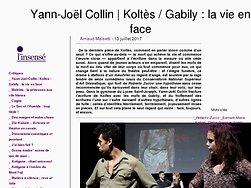 Yann-Joël Collin | Koltès / Gabily : la vie en face