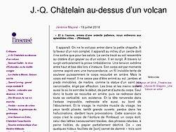 J.-Q. Châtelain au-dessus d'un volcan