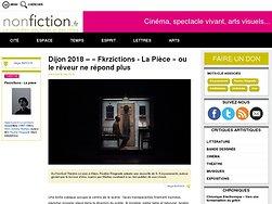 « Fkrzictions - La Pièce» ou le rêveur ne répond plus