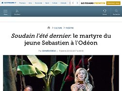 Soudain l'été dernier: le martyre du jeune Sebastien à l'Odéon