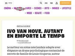 Ivo van Hove, autant en emporte le temps