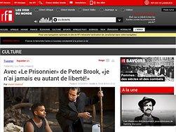 Avec «Le Prisonnier» de Peter Brook, «je n'ai jamais eu autant de liberté!»