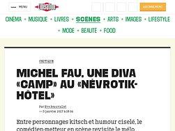 """Michel Fau, une diva """"camp"""" au """"Nevrotik-hotel"""""""