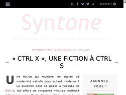 """""""Ctrl-X"""", une fiction à Ctrl-S"""