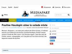 Pauline Haudepin aime la salade mixte