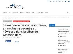 Emmanuelle Devos, savoureuse, en midinette paumée et névrosée
