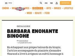 Barbara enchante Binoche