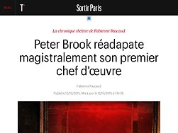 Peter Brook réadapate magistralement son premier chef d'œuvre