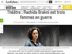 Rachida Brakni est trois femmes en guerre