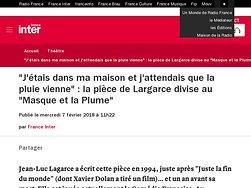 """La pièce de Largarce divise au """"Masque et la Plume"""""""