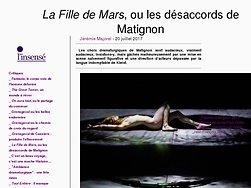 La Fille de Mars, ou les désaccords de Matignon