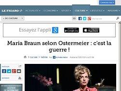 """Maria Braun selon Ostermeier : """"c'est la guerre""""!"""