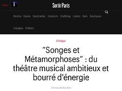 Du théâtre musical ambitieux et bourré d'énergie