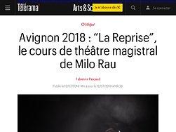 """""""La Reprise"""", le cours de théâtre magistral de Milo Rau"""