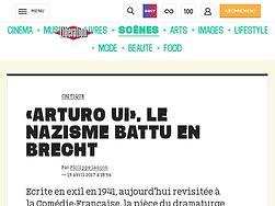 «Arturo Ui», le nazisme battu en Brecht