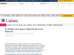Le théâtre de Lagarce illuminé par Luca Ronconi