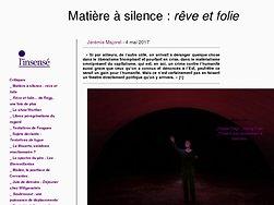 Matière à silence : Rêve et folie