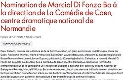 Illustration de Marcial Di Fonzo Bo à la direction de La Comédie de Caen