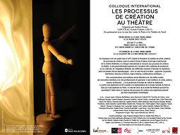 Illustration de Colloque international Les processus de création au théâtre