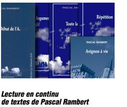 Illustration de Lecture en continu de textes de Pascal Rambert