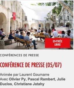 Illustration de Conférence de presse Olivier Py Pascal Rambert, Julie Duclos, Christiane Jatahy