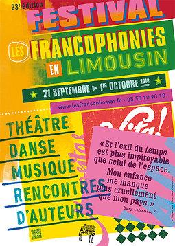Illustration de 33es Festival Les Francophonies en Limousin