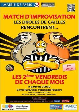 Illustration de Match d'Impro : Les Drôles de Cailles rencontrent...