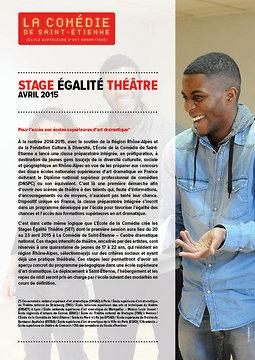 Illustration de Inscriptions Stage Egalité Théâtre