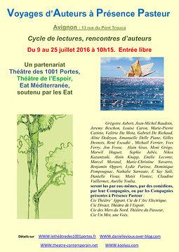Illustration de Voyages d'Auteurs à Présence Pasteur 2016