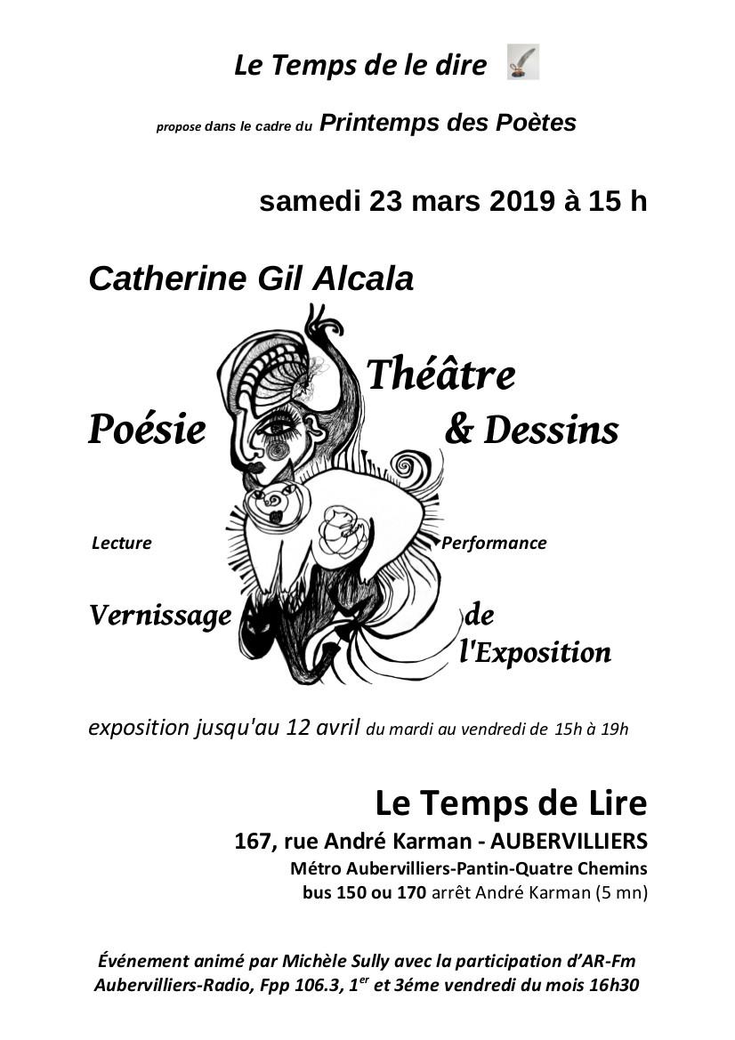 Illustration de Catherine Gil Alcala : Théâtre, poésie & dessins