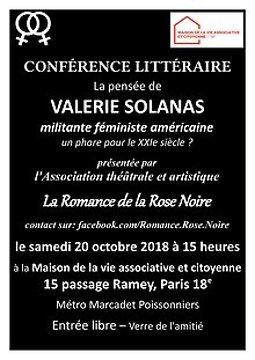 Illustration de Conférence littéraire et théâtrale : l'œuvre de Valerie Solanas