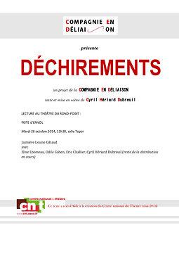"""Illustration de """"Déchirements"""" , piste d'envol, au Théâtre du Rond Point"""