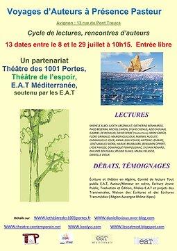 Illustration de Voyage d'auteurs à Présence Pasteur 2017, Avignon Off