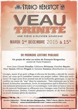 """Illustration de Lecture Publique """"Veau Trinité"""" Avec Jean-Claude Dreyfus"""