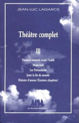 Théâtre complet, vol. III