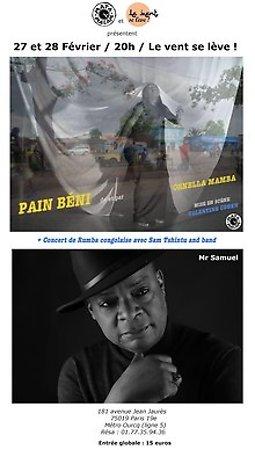 Illustration de Pain Béni + Concert Rumba Congolaise - Théâtre Le Vent se Lève !