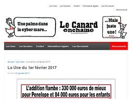 Capture d'écran de la page http://www.lecanardenchaine.fr/la-une-du-1er-fevrier-2017/