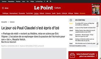 Le jour où Paul Claudel s'est épris d'Izé
