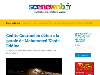 Cédric Gourmelon déterre la parole de Mohammed Khair-Eddine