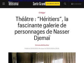 """Héritiers"", la fascinante galerie de personnages de Nasser Djemaï"