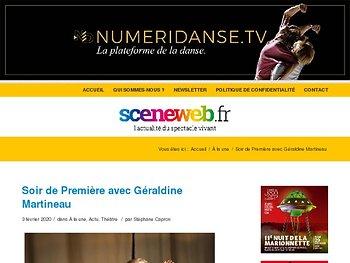 Soir de Première avec Géraldine Martineau