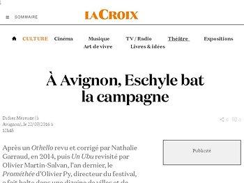 À Avignon, Eschyle bat la campagne