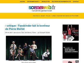 Fassbinder fait le bonheur de Pierre Maillet