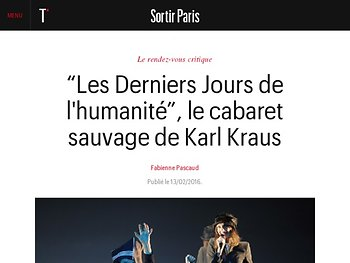 Le cabaret sauvage de Karl Kraus