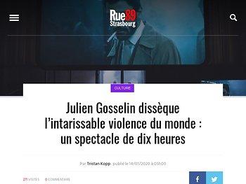 Julien Gosselin dissèque l'intarissable violence du monde : un spectacle de dix heures