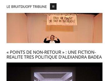 « Points de non-retour » : une fiction-réalité très politique
