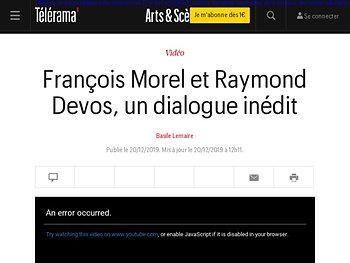 François Morel et Raymond Devos, un dialogue inédit
